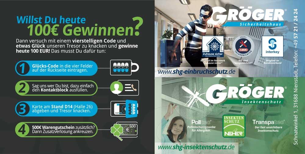 Gröger Gewinnspiel zur B.I.G.