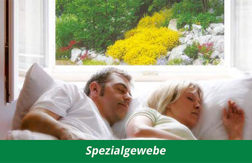 Spezialgewebe für Allergiker - Polltec